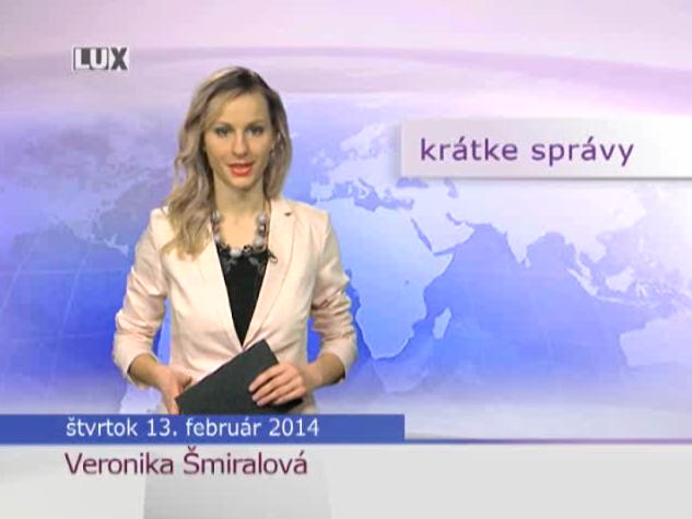 Krátke správy (962) - 13.02.2014