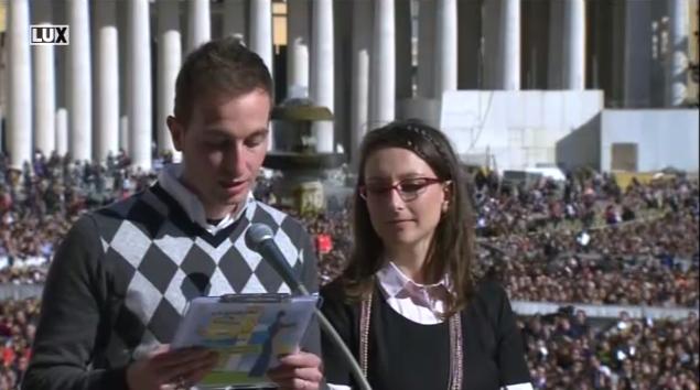 Stretnutie pápeža Františka so snúbencami