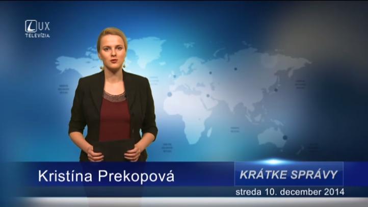Krátke správy (10.12.2014)