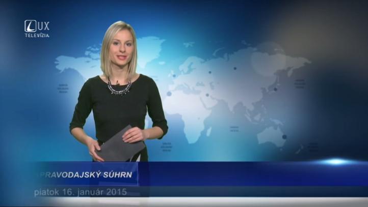 Spravodajský súhrn (16.01.2015)