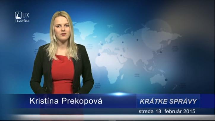 Krátke správy (18.02.2015)