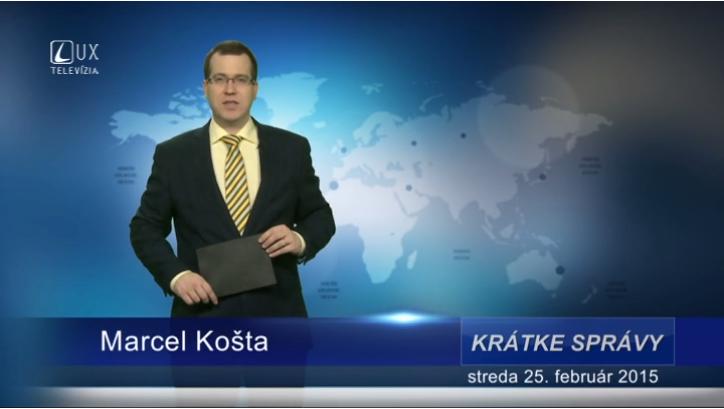Krátke správy (25.02.2015)