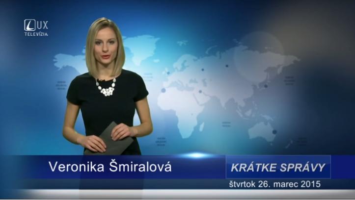 Krátke správy (26.03.2015)