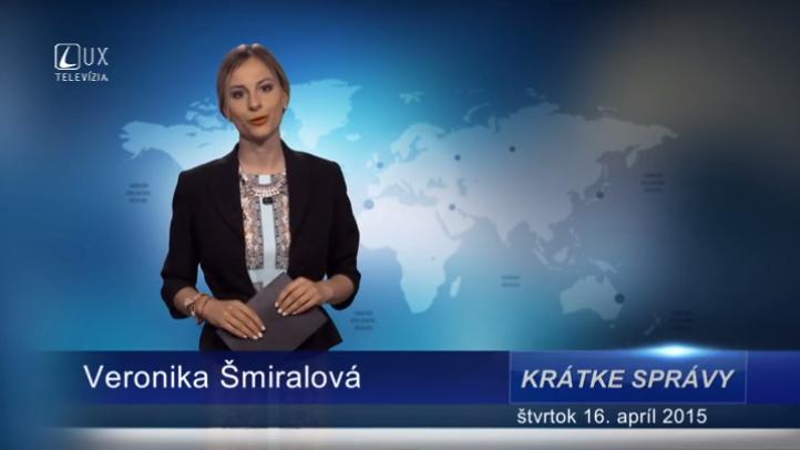 Krátke správy (16.04.2015)