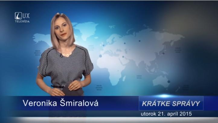 Krátke správy (21.04.2015)