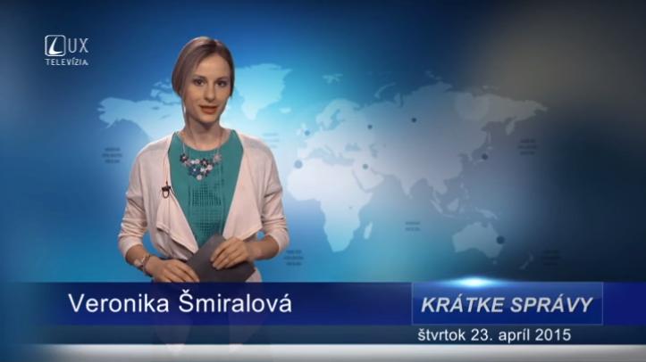 Krátke správy (23.04.2015)