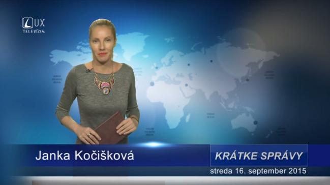 Krátke správy (16.09.2015)