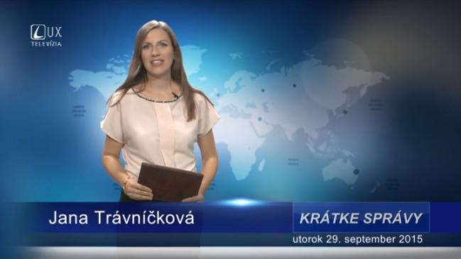 Krátke správy (29.09.2015)