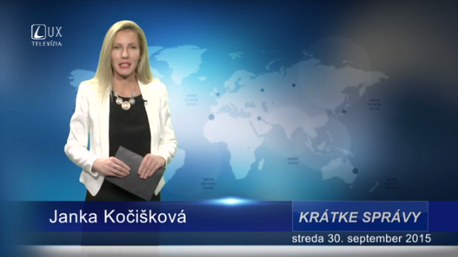 Krátke správy (30.09.2015)