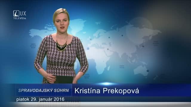 Spravodajský súhrn (29.01.2016)