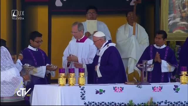 PÁPEŽ FRANTIŠEK V MEXIKU: Svätá omša s domorodými komunitami