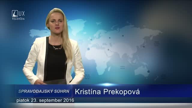 SPRAVODAJSKÝ SÚHRN (23.9.2016)