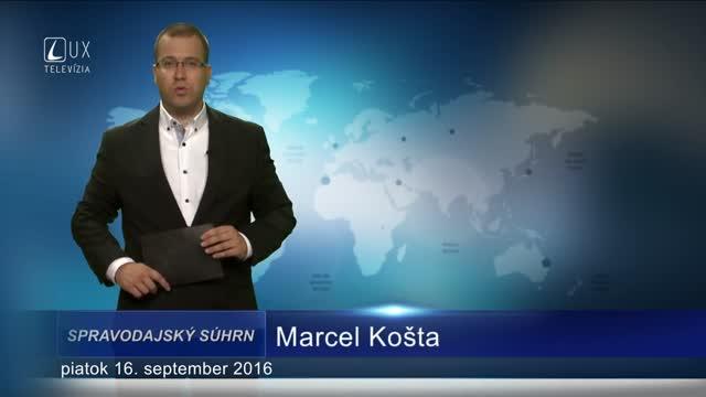 Spravodajský súhrn (16.9.2016)