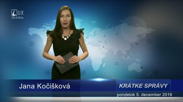 KRÁTKE SPRÁVY (05.12.2016)