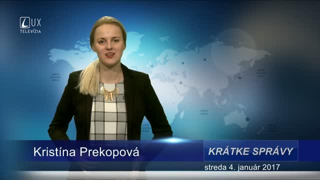 KRÁTKE SPRÁVY (04.01.2017)