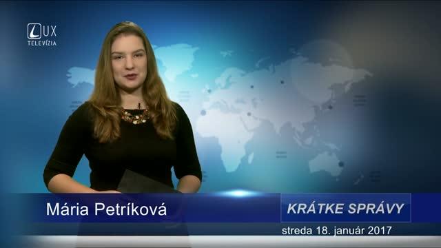 KRÁTKE SPRÁVY (18.01.2017)