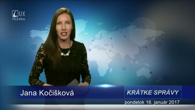 KRÁTKE SPRÁVY (16.01.2017)