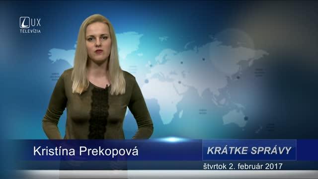 KRÁTKE SPRÁVY (02.02.2017)