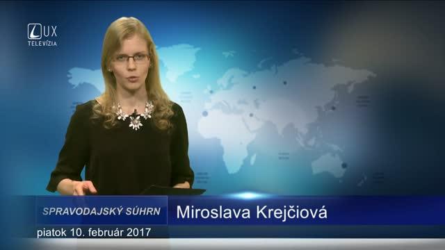SPRAVODAJSKÝ SÚHRN (10.2.2017)