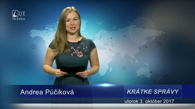 KRÁTKE SPRÁVY (03.10.2017)