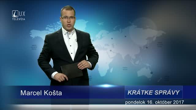 KRÁTKE SPRÁVY (16.10.2017)