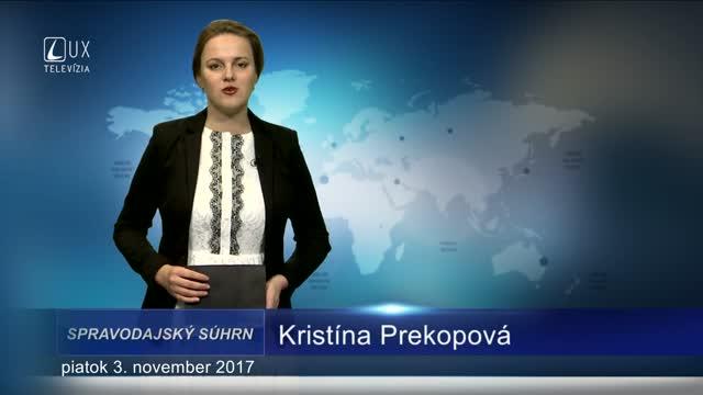 SPRAVODAJSKÝ SÚHRN (03.11.2017)