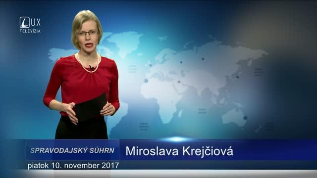 SPRAVODAJSKÝ SÚHRN (10.11.2017)