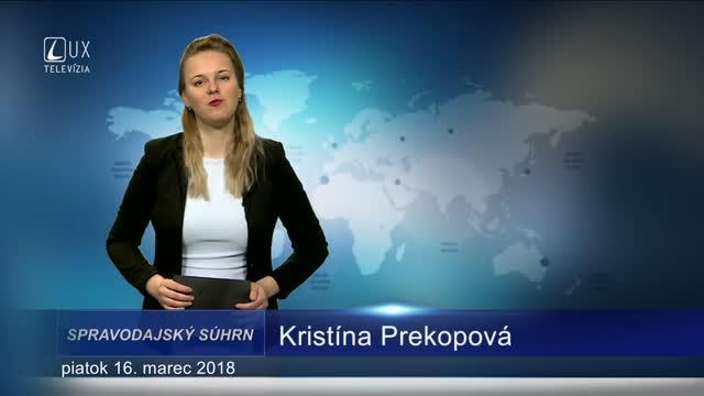 SPRAVODAJSKÝ SÚHRN (16.3.2018)