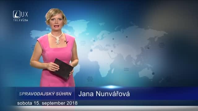 SPRAVODAJSKÝ SÚHRN (15.9.2018)