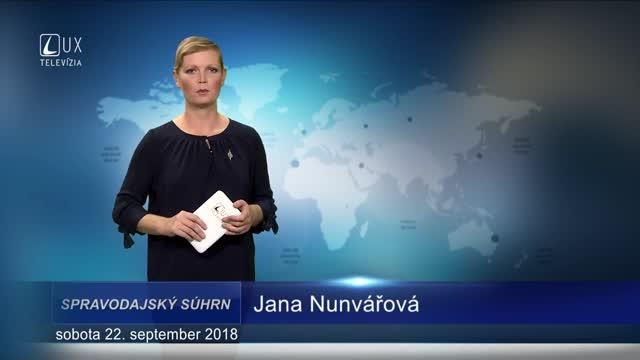 SPRAVODAJSKÝ SÚHRN (22.9.2018)