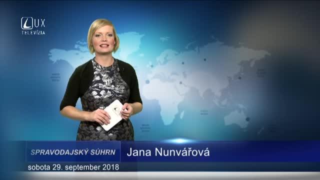 SPRAVODAJSKÝ SÚHRN (29.9.2018)