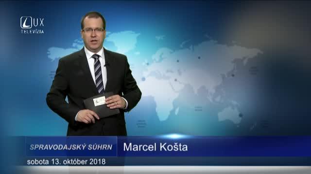 SPRAVODAJSKÝ SÚHRN (13.10.2018)
