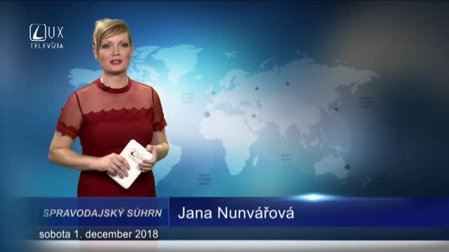 SPRAVODAJSKÝ SÚHRN (1.12.2018)