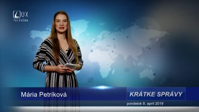 KRÁTKE SPRÁVY (8.4.2019)