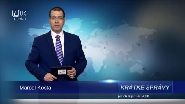 KRÁTKE SPRÁVY (3.1.2020)